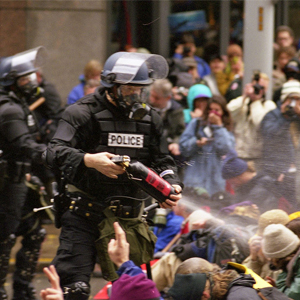 2013 black friday shopper controled with pepper spray